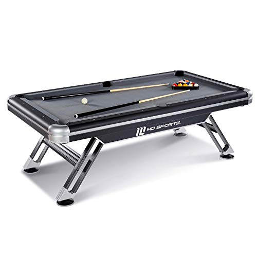 MD Sports BLL090_147M Titan Pool Table, Black, -