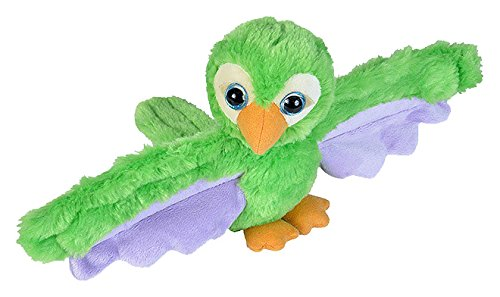 s Green Parrot Plush Toy, Slap Bracelet, Stuffed Animal, Kids Toys, 8 Inches (Plush Hugger)
