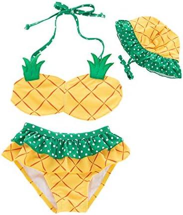WINDYLEE Kids Toddler Baby Girls Backless Ruffle Watermelon Bikini Swimwear Bathing Suit Swimsuit Beachwear Sunsuit