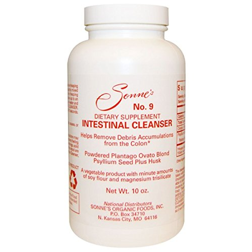 Sonnes Intestinal Cleanser #9 Natural Bulking Agent 10 oz by Sonne's