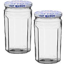 Le Parfait Glass Jam Jar Fait Maison For Homemade Jam or Decoration, 645 ml (Pack of 2)