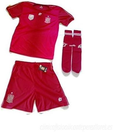Conjunto Replica Oficial Federación Española de Futbol - Camiseta, Pantalón y Medias -Tallaje Niño Junior (14 Años): Amazon.es: Deportes y aire libre