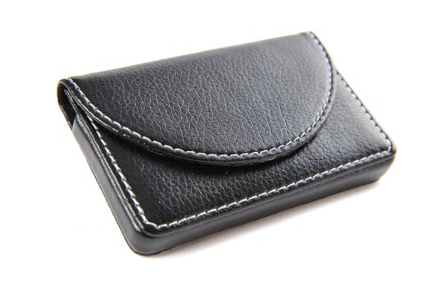 Image Unavailable. Image not available for. Color  Pindi Black Leather  Business Name Card Wallet Holder ... 3f07e4d6610e