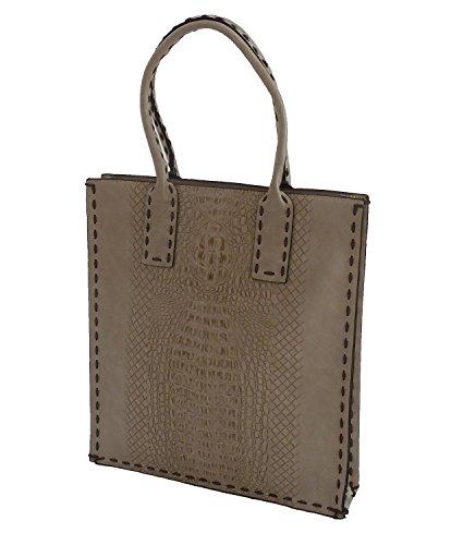 LCV61352 Businesstasche Handtasche Shopper Umhängetasche Schultasche beige