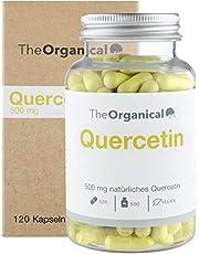 TheOrganical® Quercetine capsules, 120 capsules met 500 mg natuurlijke dwarssectine, gemaakt in Hamburg