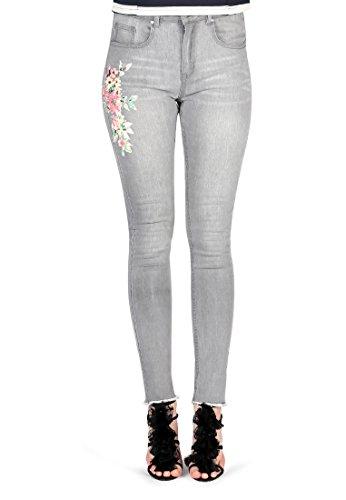 London Rag - Jeans - Skinny - Uni - Femme Gris Clair
