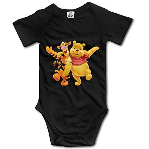 ZZHZMH Baby Boys Girls Tigger and Winnie The Pooh Funny Jumpsuit s Black