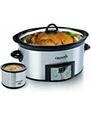 Crock-Pot 6Quart Countdown Programmable Oval Slow Cooker with Dipper Stainless Steel Sccpvc605S