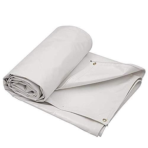 Happy Togethe Regenschutz Tuch Wasserdicht Sonnencreme Plane Verdickung Outdoor Crepe Folding Fischteich Leinwand PVC Sonnenschirm PonchoI (Farbe  Weiß)