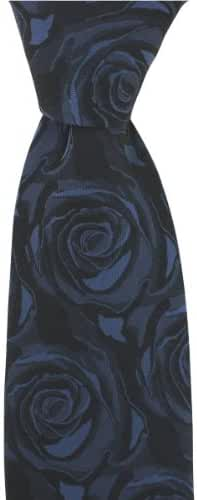 Navy Wedding Rose Silk Tie by David Van Hagen