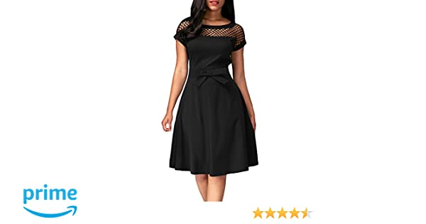 715f8b06c6 Dokotoo Womens Formal Frilled Ruffle Sleeve Fit and Flared Midi Skater Dress  for Party at Amazon Women s Clothing store