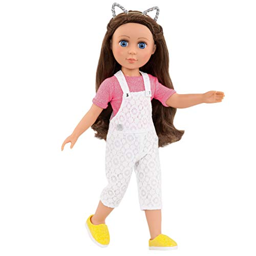 Glitter Girls by Battat – Glisten & Glam - Lace Overalls & Cat Ear Deluxe Outfit - 14 Doll Clothes & Accessories For Girls Age 3 & Up – Children'S Toys