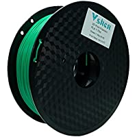 VSHEN 3D Printer PLA Filament PLA 1KG 1.75mm Dimensional Accuracy +/- 0.03 mm Green Filament Spool Holder