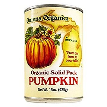 OMENA ORGANICS, Pumpkin, Og2, Solid Pack, Pack of 12, Size 15 OZ, (Dairy Free Gluten Free Kosher Low Sodium Vegan Wheat Free Yeast Free 95%+ Organic)