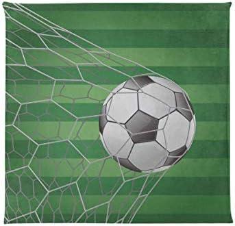 Asientos acolchados Balón de fútbol en portería con campo de ...