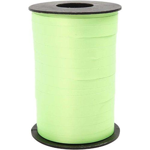 Gift Ribbon, W: 10 mm, neon green, 250 m