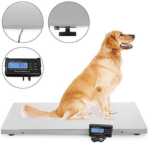 HUKOER Escala digital de alta precisión para mascotas, 300KG ...
