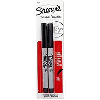 Sharpie Permanent Markers, Ultra Fine Point, Black, 4 Packs of 2-Pack (37161)