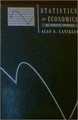 statistics for economics alan caniglia solutions