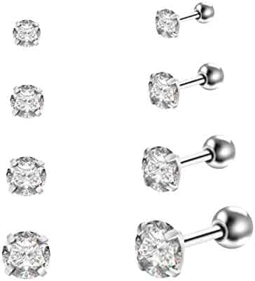 Jewelry Sets & More Gagabody 16g 10mm G23 Titanium Hinged Septum Clicker Segment Nose Closure Ring Ear Cartilage Body Jewelry Prong Set Clear Cz Gem