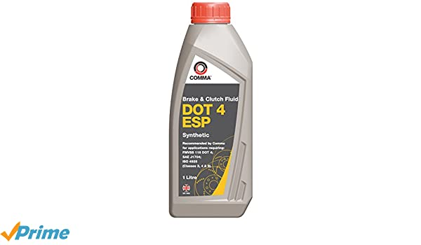 Comma BF4ESP1L DOT 4 ESP - Líquido sintético de frenos y embrague (1 l): Amazon.es: Coche y moto