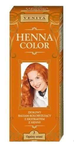 Henna Color 3 Flaming Orange Haarbalsam Haarfarbe Farbeffekt Naturhaarfärbemittel Henne Öko