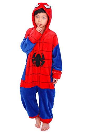 Kids Pajamas Costume Animal Jumpsuit-140cm Red]()