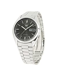 Seiko Men's 5 SNXF07 Automatic Black Dial Watch