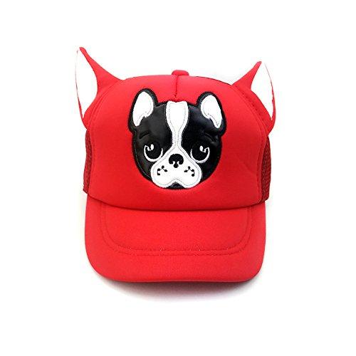 Unisex Dog Baseball Cap (LINGGO Unisex Kids Personality Popular Cute Embroidery Lifelike Dog Ears Mesh Horns sunshade Comfortable Outdoors Hip Hop Baseball Cap 5 Color)