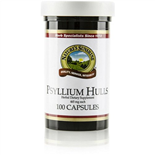 Naturessunshine Psyllium Hulls Digestive System Support 465 mg 100 Capsules (Pack of 2)