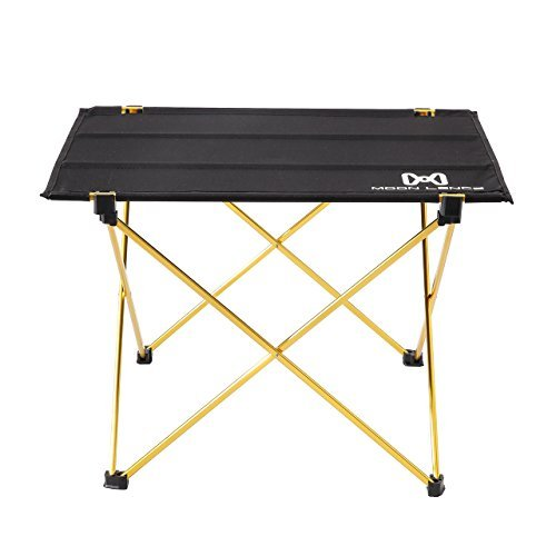 (Moon Lence Portable Lightweight Folding Camping Hiking Picnic Table (Gold))