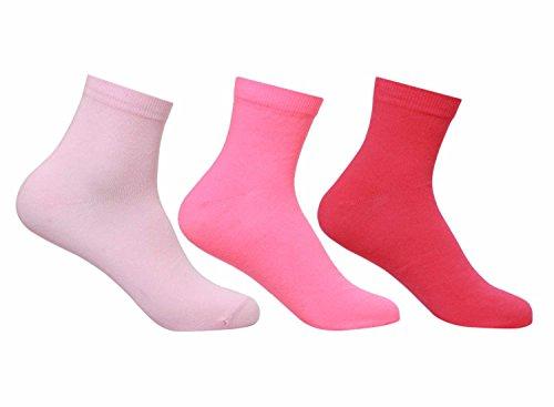 Supersox Women's Ankle Length Plain Socks – Pack of 3