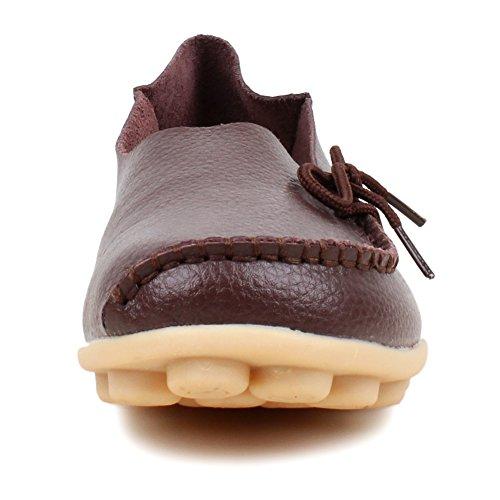 Flats mujer baja marrón FangstoLoafer zapatilla OUqRWF