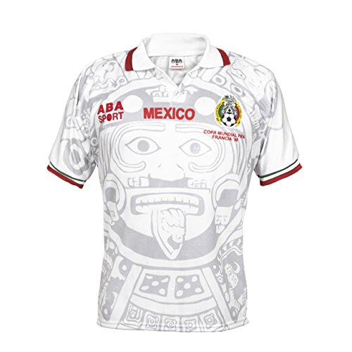 Mexico 2018 Calendar - ABA Sport Mexico Authentic 1998 World Cup Soccer Jersey