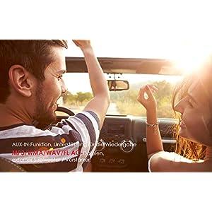 41m8GGaPhhL. SS300  - ieGeek-Car-Radio-Bluetooth-Handsfree-Dual-LCD-Display-with-Clock-MW-and-FM-RDS-Radio-Data-System-Stereo-Car-Radio-30-Memory-Spaces-USBAUX-Input-MP3-FLACSD-Card