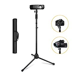 Projector Stand ,Link Dream Portable Tripod Stand Adjustable Height 29.5 to 55.1 Anti-Slip 360° Swivel Ball Head for Mini Projector , Small Camera ,Webcam ,GoPro with Carry Bag