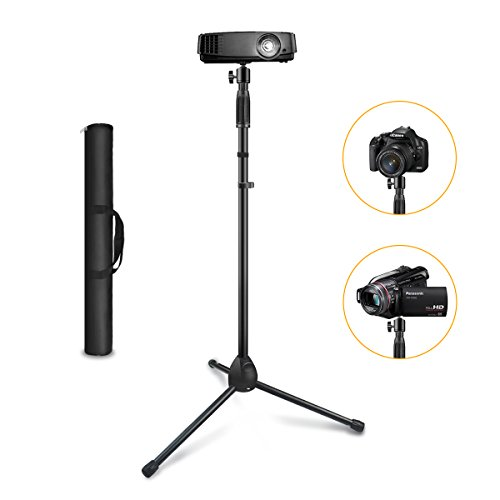 """Projector Stand ,Link Dream Portable Tripod Stand Adjustable Height 29.5"""" to 55.1"""" Anti-Slip 360° Swivel Ball Head for Mini Projector , Small Camera ,Webcam ,GoPro with Carry Bag"""