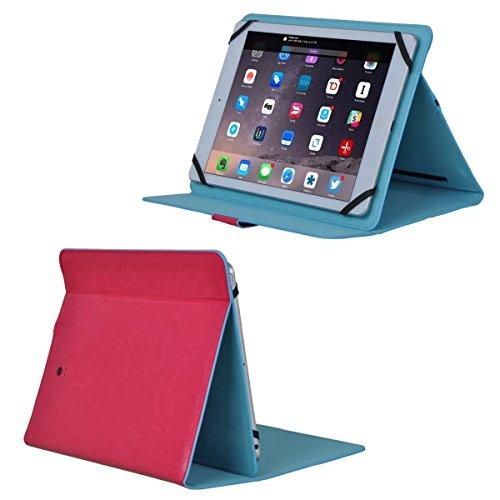 Generic G12 6000 mAh Universal Battery Charger Tablet Leather Case for iPad Pro 9.7/iPad Air/iPad Air 2/Samsung Galaxy Tab S2 9.7/Galaxy Tab 4 10.1, Hot pink