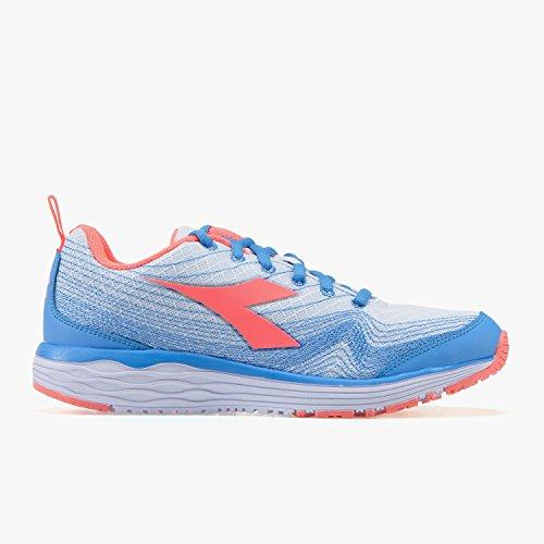 Iris W Running Flamingo Chaussures Femme Blue de Coral Fluo Diadora gYOnn