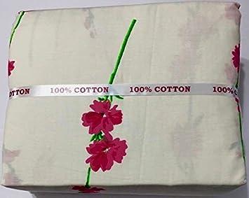 Twin Size Sheet Set 100/% Cotton 3 Piece Bedding T500 Thread Deep Pocket Flowers