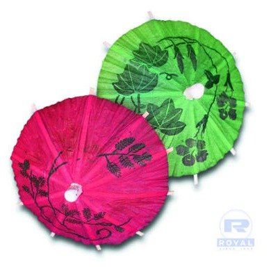 Cocktail Parasols in Assorted Colors by Royal Toner