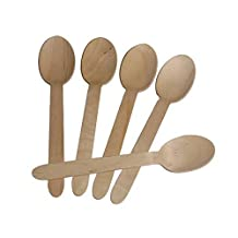 100pcs of 6 Inch Length Wooden Spoon Disposable Birch Wood Cutlery Silverware