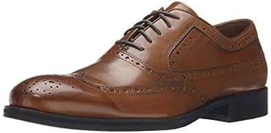 Johnston & Murphy Men's Tyndall Wing Tip Oxford,Saddle Tan,10 W US