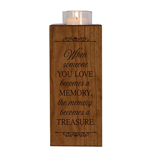 LifeSong Milestones Memorial Candle Holder in Loving Memory for Loved One Funeral Bereavement Keepsake Gift 8in (When Someone You Love)