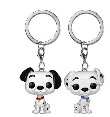 Funko Pop! Keychain: 101 Dalmations - Pongo & Perdita 2 Pack Toy, Multicolor -