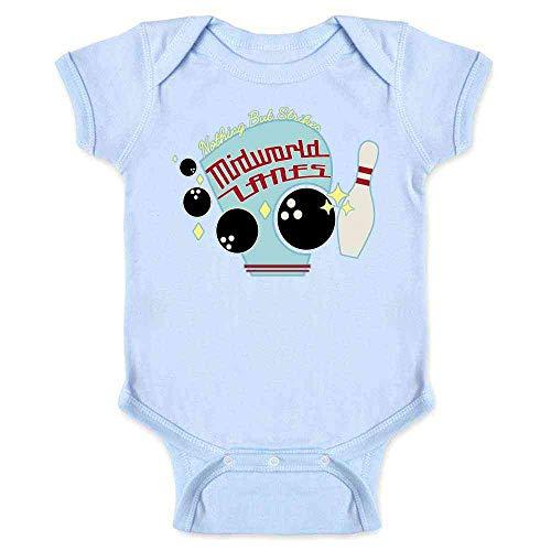 Nothing But Strikes at MidWorld Lanes Light Blue 12M Infant Bodysuit