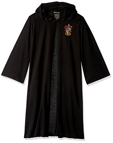 Harry Potter Big Boys' Harry Potter 'Hogwarts House Crest Magic Wizard Cloak' Costume Robe, Black, XL