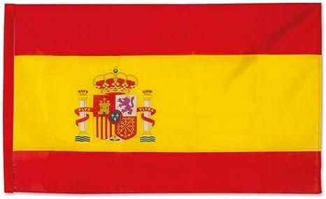 DISOK Lote de 20 Banderas España Grandes 90 x 150 cm - Banderas Ofertas para Animar Balcones Selección Española. Banderas para Mundial fútbol españa Rusia 2018: Amazon.es: Deportes y aire libre