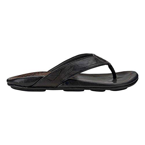 Kulia OLUKAI Black Flop Flip Men's Black 6PYq1x