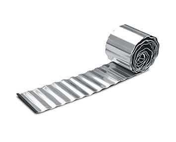Galvanised Steel Metal Garden Border Lawn Edging Roll (5m Lengths) H16.5cm (